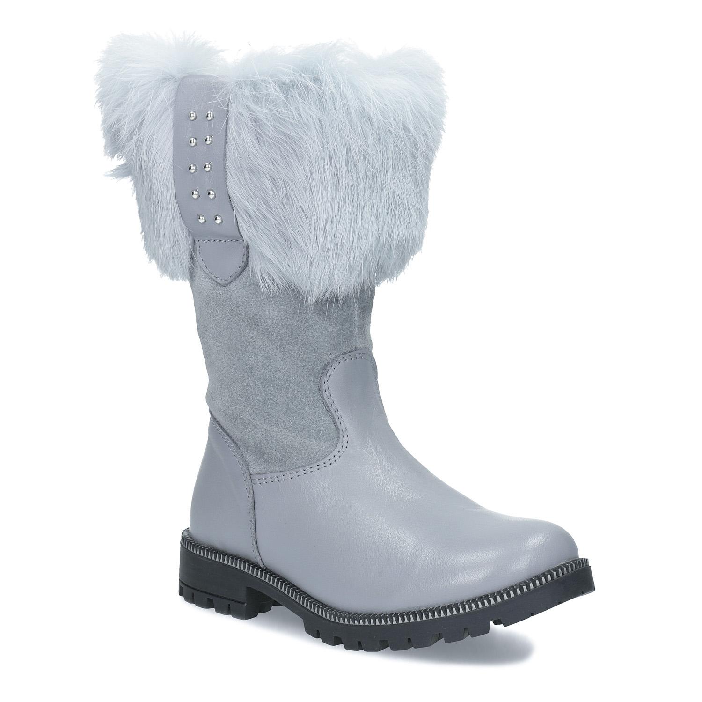 Zimní dívčí kozačky s kožešinkou 086159ce2f