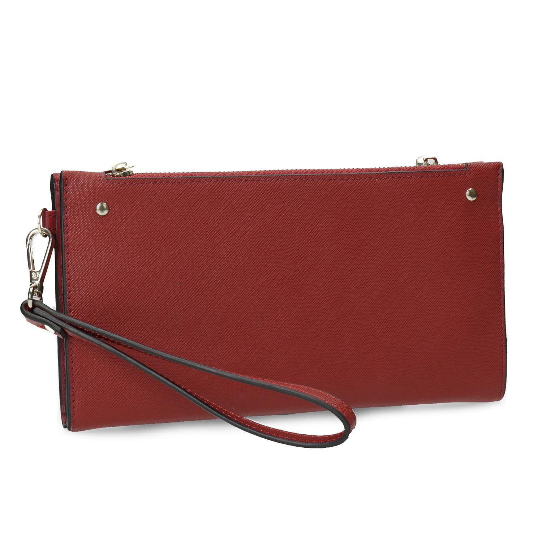Dámska červená peňaženka s remienkom