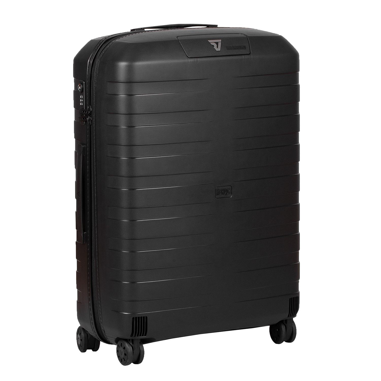 Velký černý skořepinový kufr