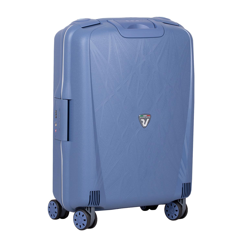 Palubní zavazadlo modré na kolečkách