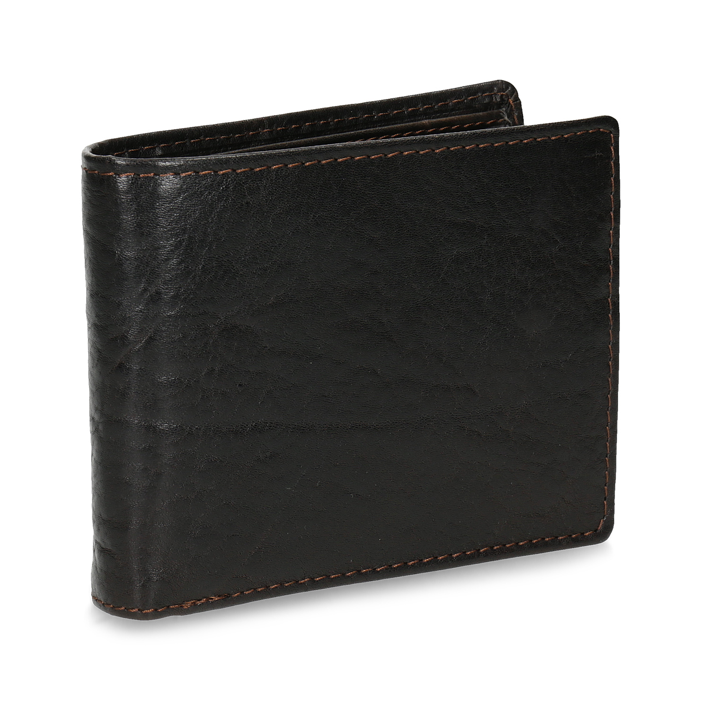 Tmavohnedá pánska kožená peňaženka