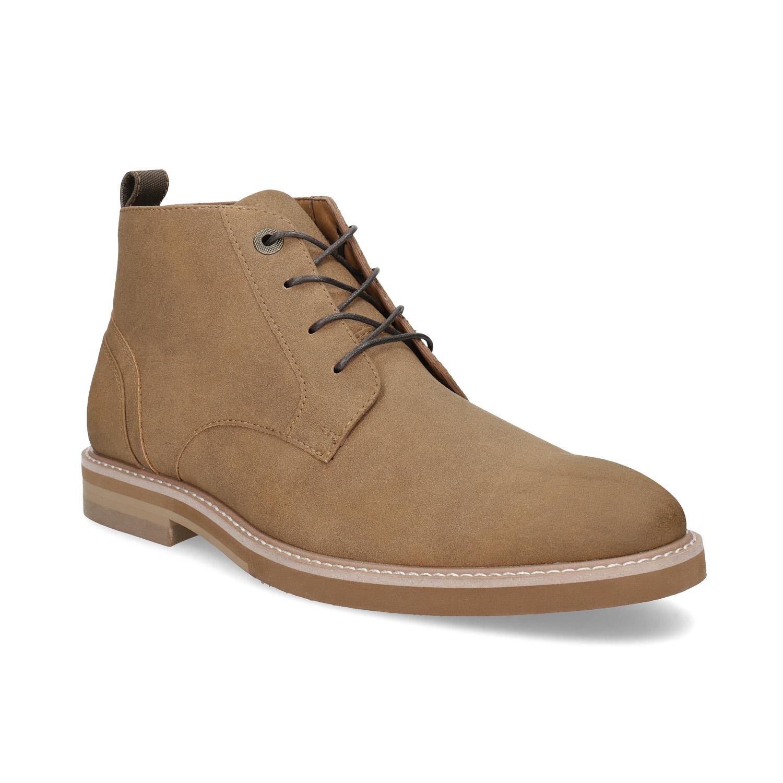 Pánska členková béžová obuv