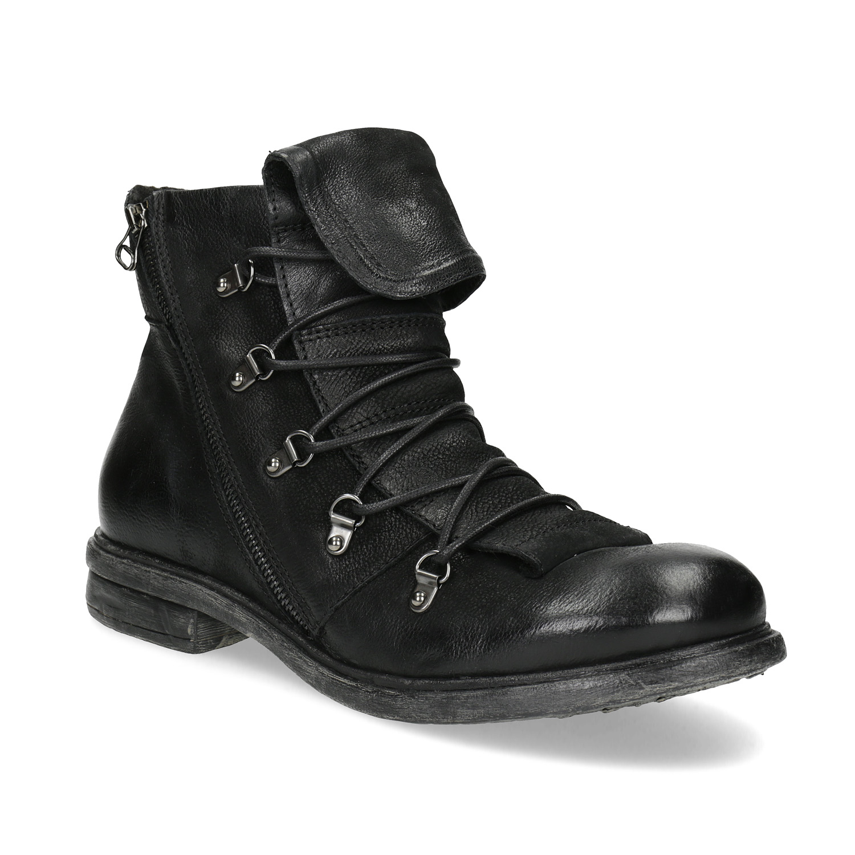 Kožená zimní pánská obuv