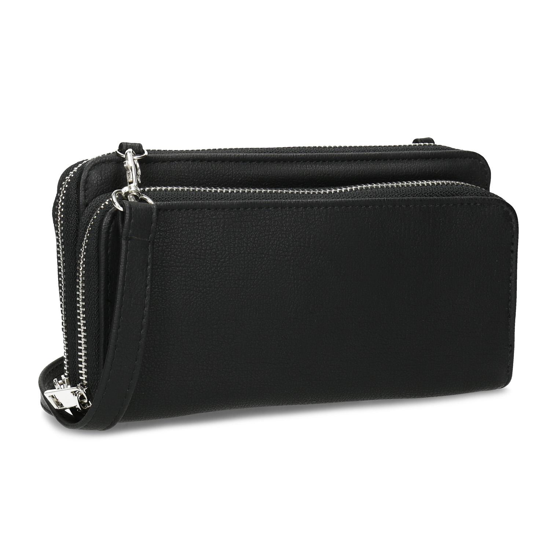 Dámska priestorná čierna peňaženka