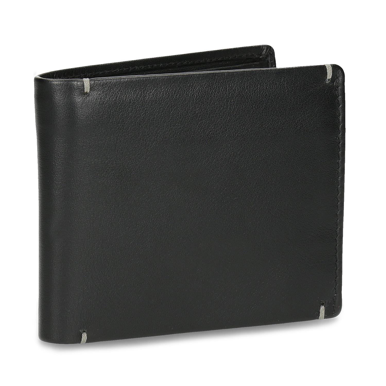 Pánska kožená peňaženka s prešitím