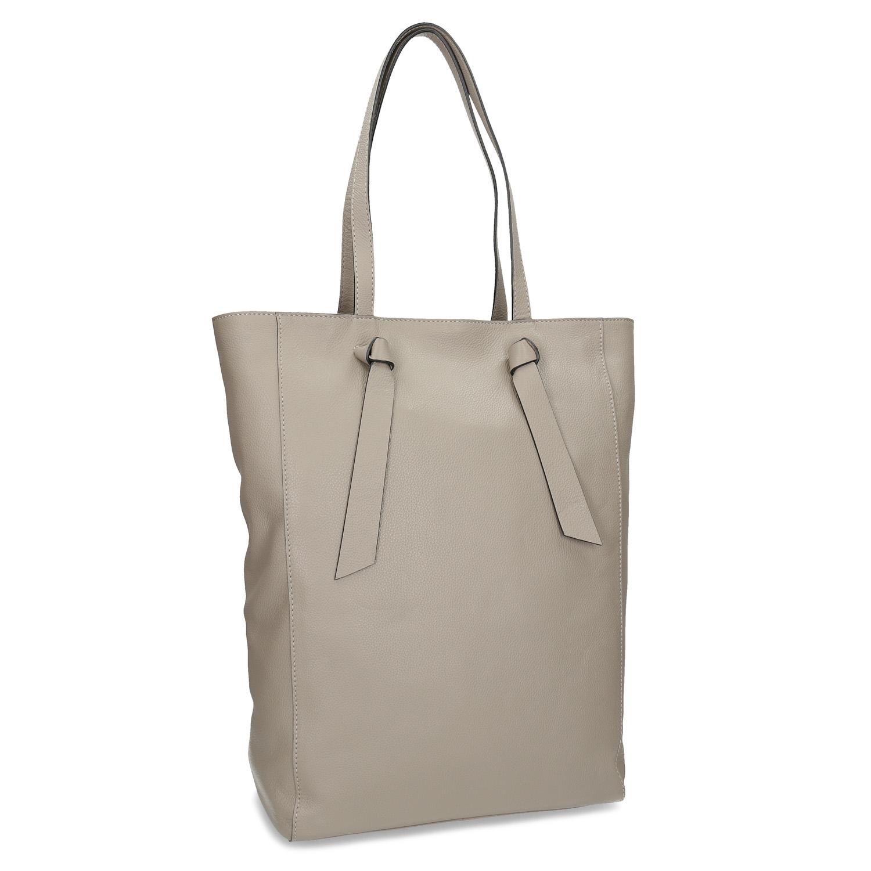 Kožená béžová kabelka