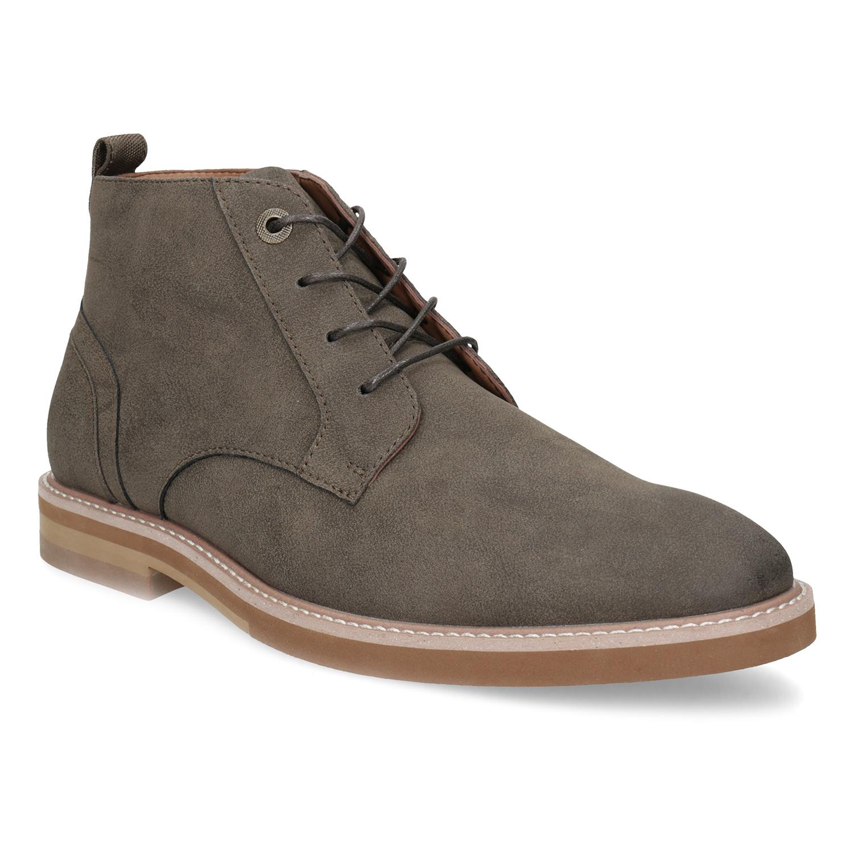 Pánska hnedá členková obuv