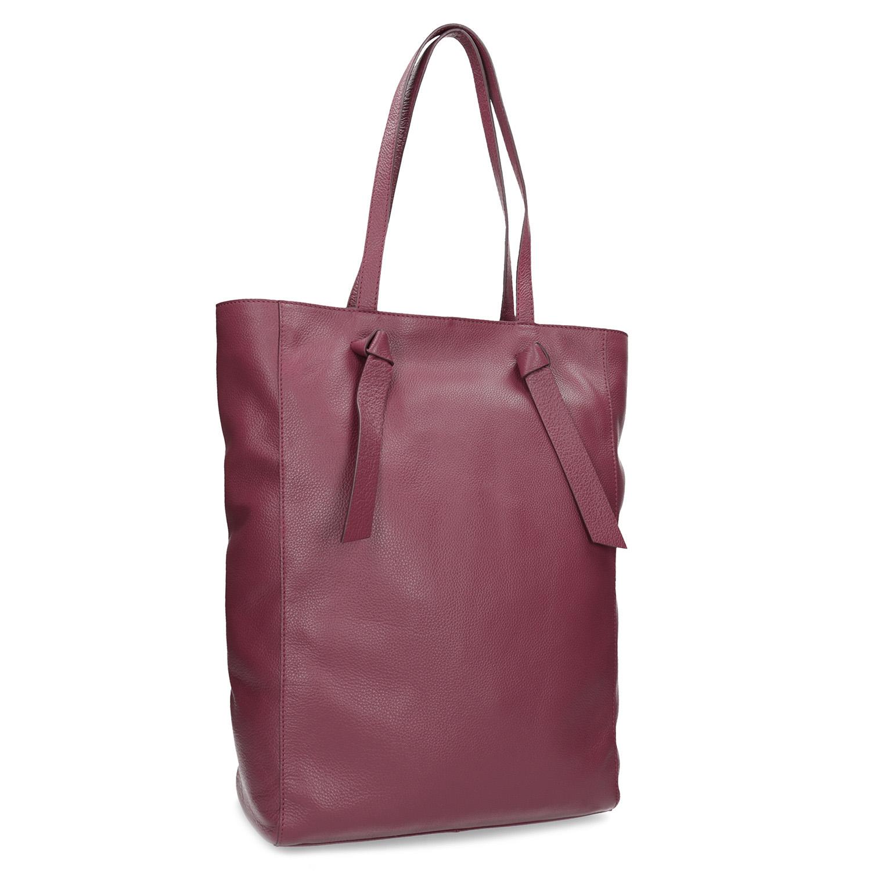Vínová kožená dámská kabelka
