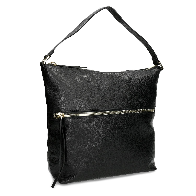 Černá kožená Hobo kabelka