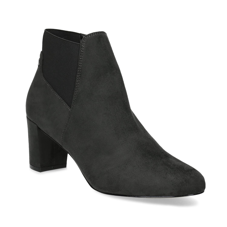7f9e49b83aba Šedá dámská kotníčková obuv s elastickou patou