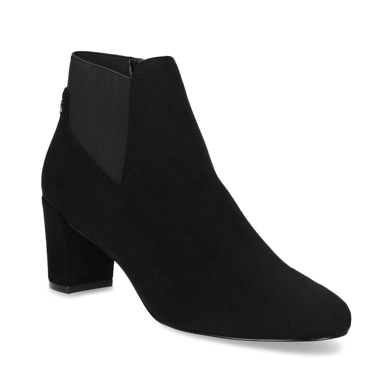 ce653f04b29 Dámská černá kotníčková obuv na podpatku