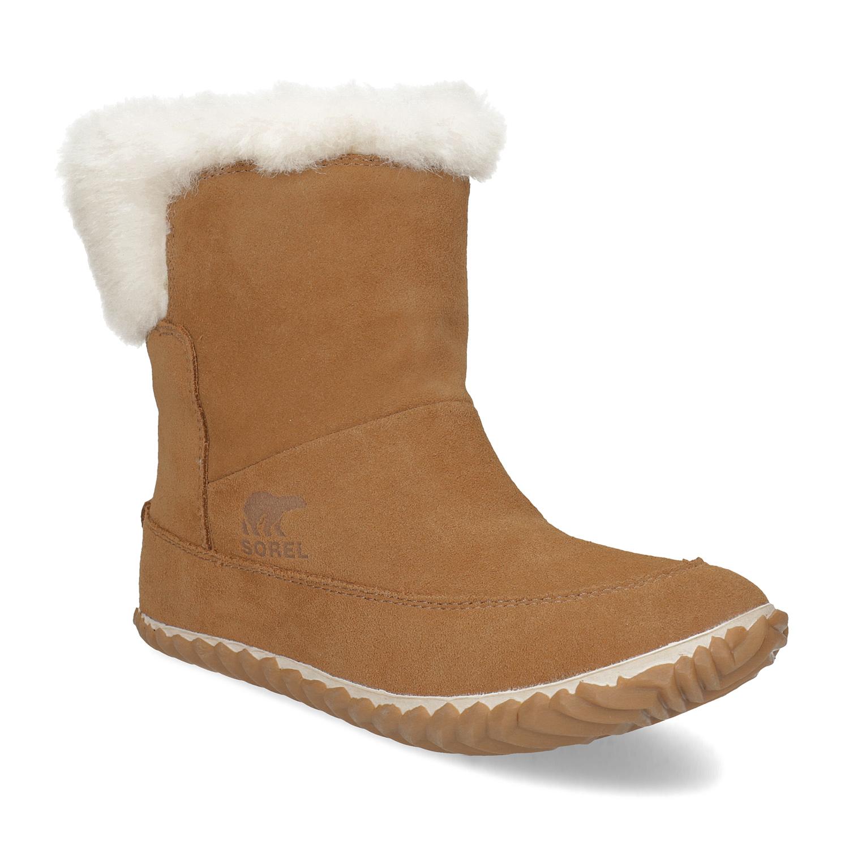 Dámská kožená zimní obuv s kožíškem