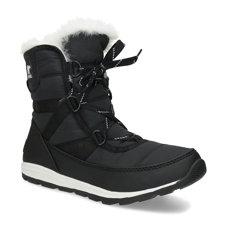 Černé dámské sněhule s bílým kožíškem 4408c8095b