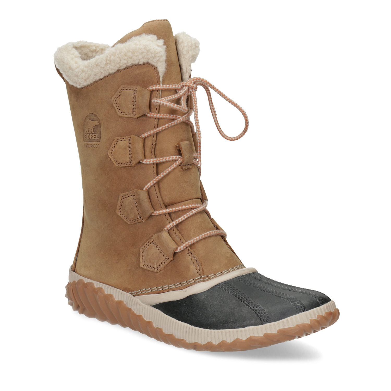 Kožená dámská zimní obuv se šněrováním