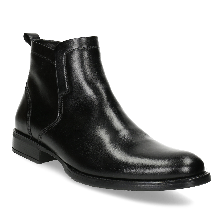 Kožená zimní pánská kotníčková obuv