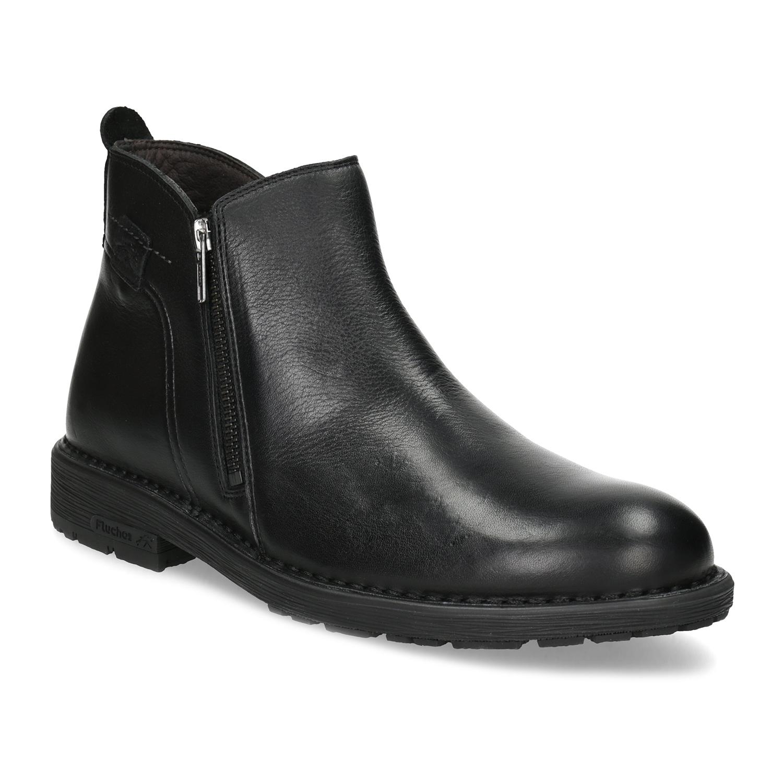 Zimní kotníčková pánská obuv kožená