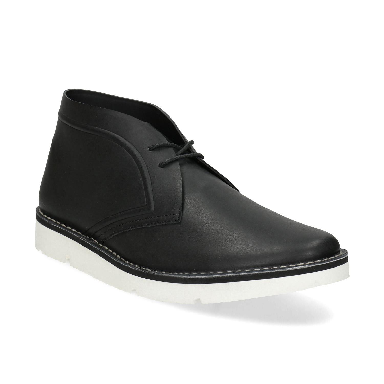 Čierna pánska členková obuv