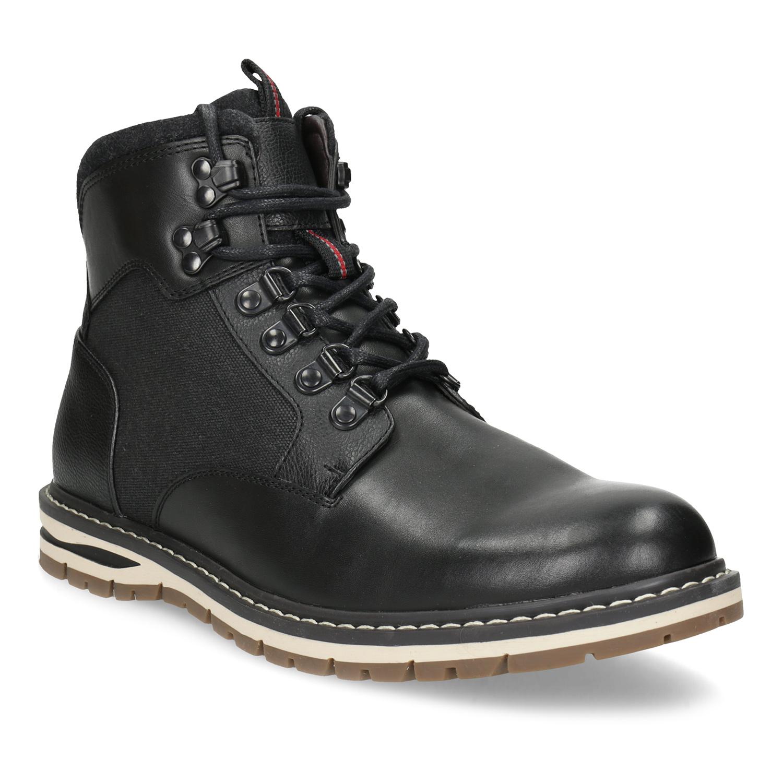 Černá pánská kotníčková zimní obuv