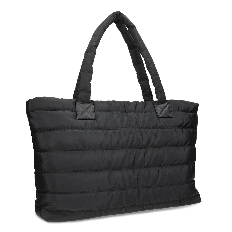 Dámská černá kabelka s prošitím
