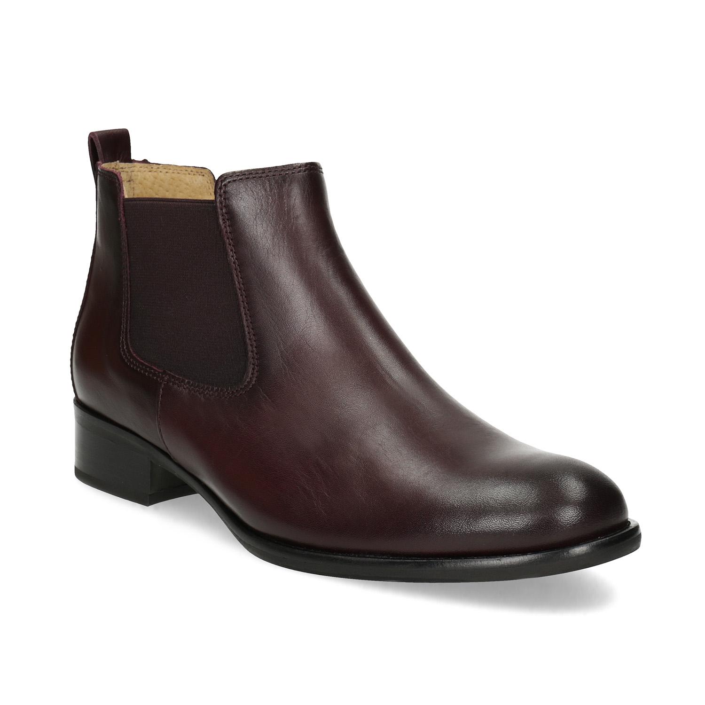 Kožená dámská kotníčková obuv v Chelsea stylu
