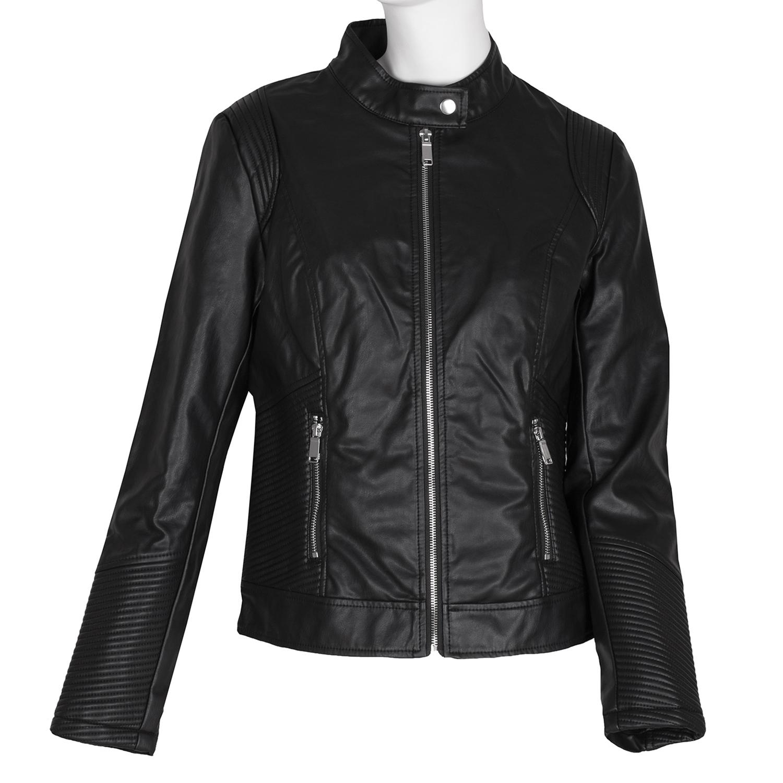 Čierna dámska bunda s prešívaním