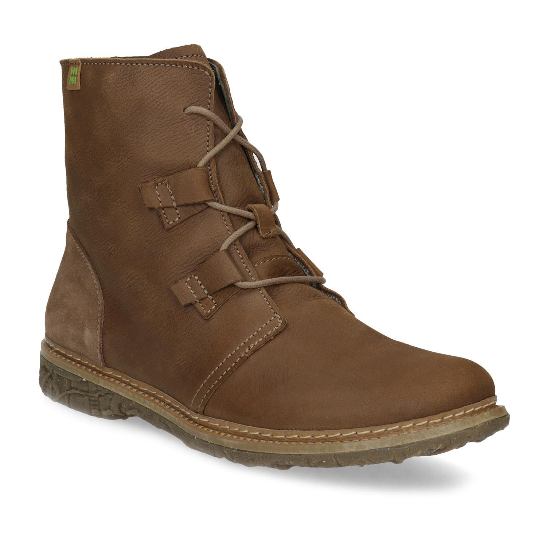 Zimní kožená kotníčková obuv dámská