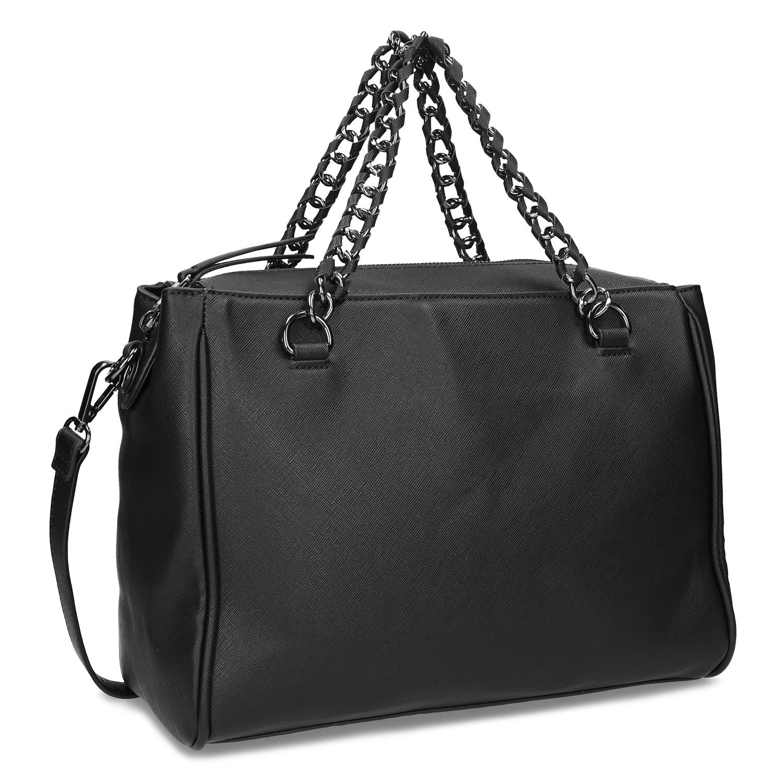 Dámská kabelka s řetízkem černá