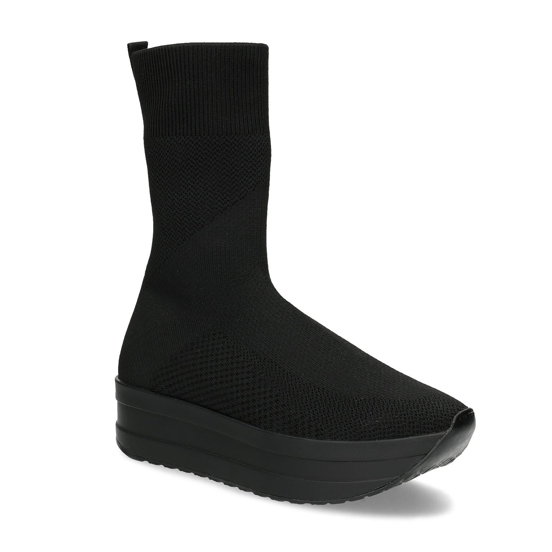 Dámská černá kotníčková obuv