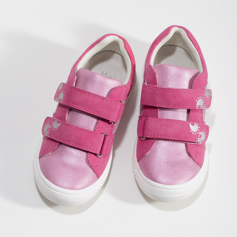 Dětské růžové tenisky na suché zipy