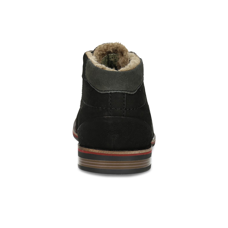19dc1d53ddc Zimní pánská kožená obuv černá Zimní pánská kožená obuv černá ...