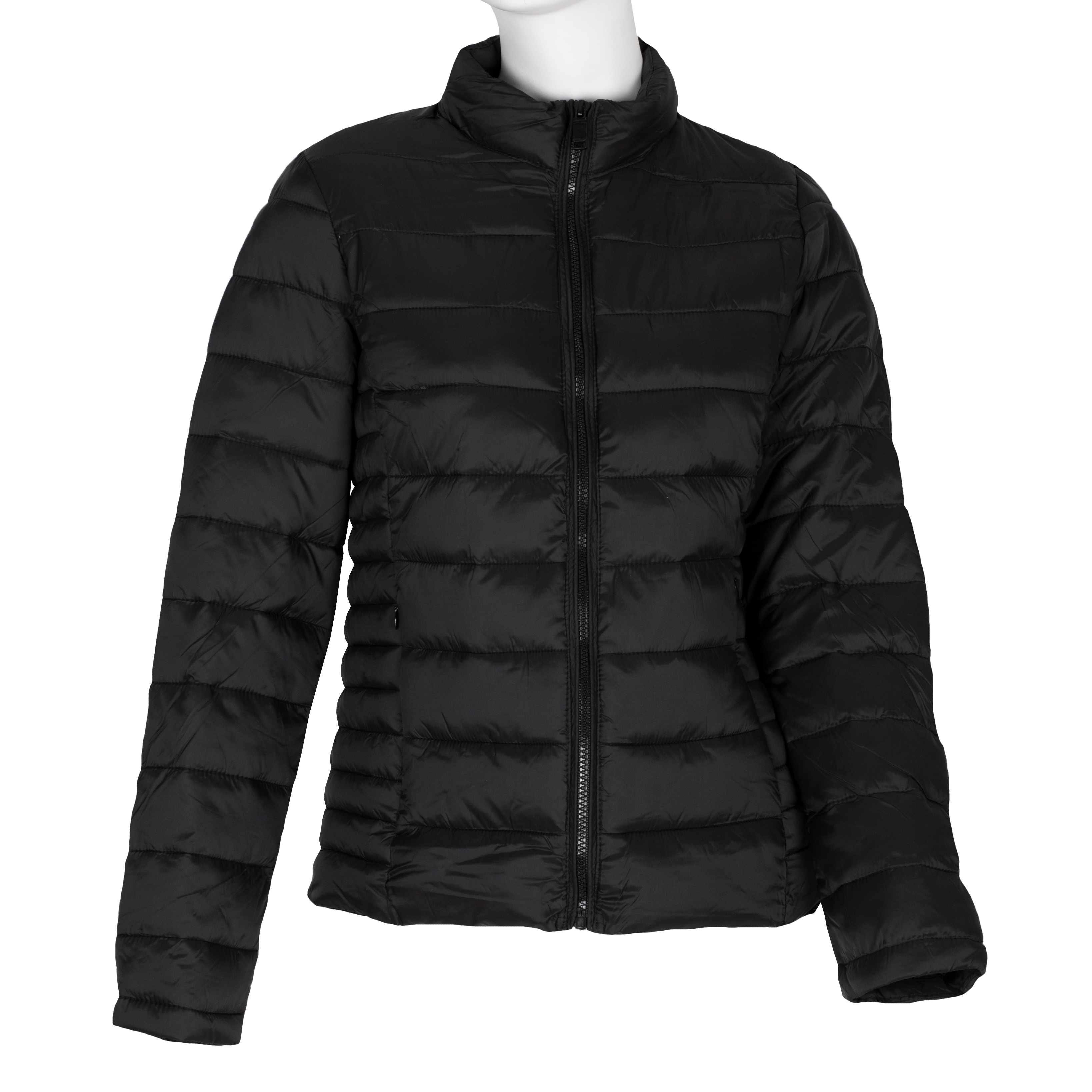 Dámska prešívaná bunda čierna