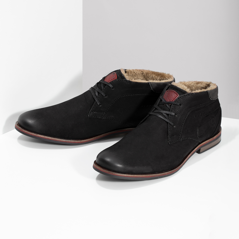 38101297e07 Zimní pánská kožená obuv černá - Akční cena