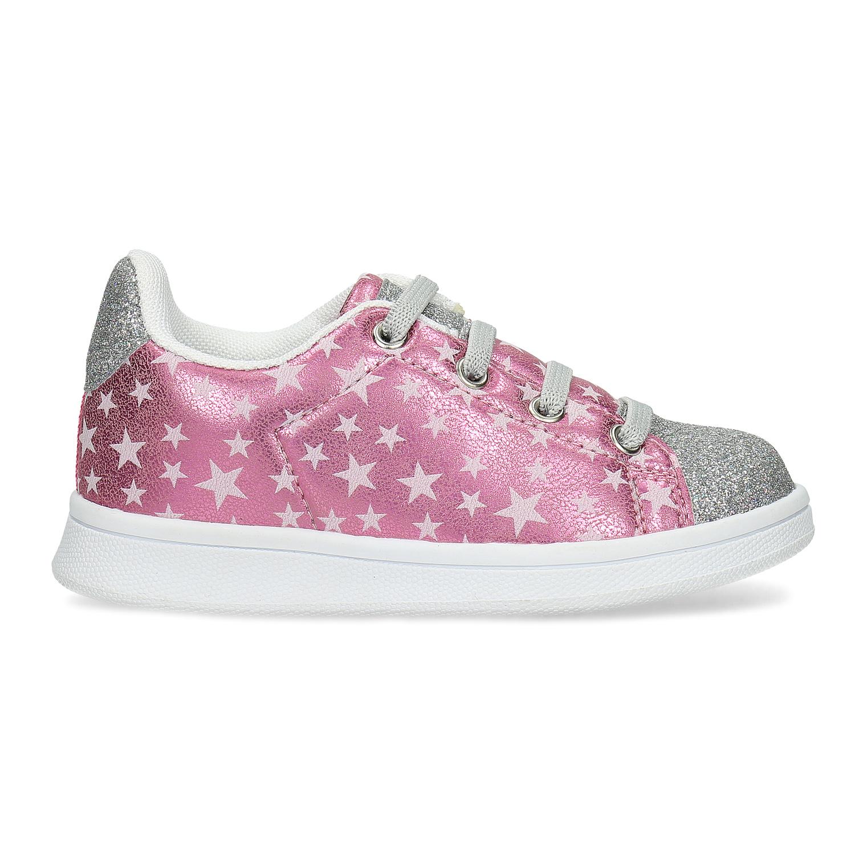 Růžové dětské tenisky s hvězdičkami