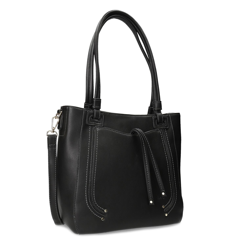 Černá dámská kabelka s odepínatelným ramenním popruhem