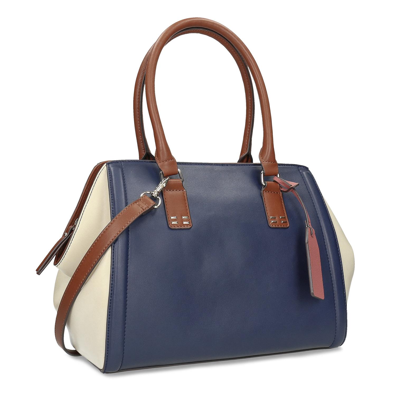 Modro-bílá dámská kabelka
