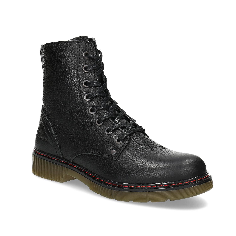 Černá dámská kožená obuv v Chelsea stylu