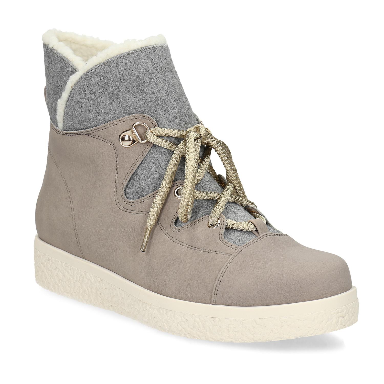 Kotníčková dámská zimní obuv