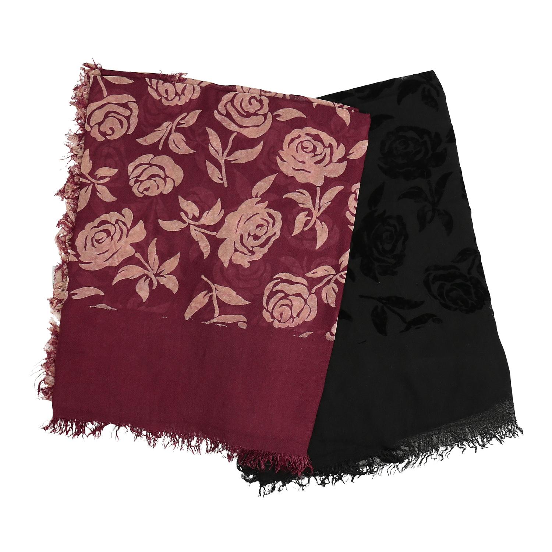 Dámský šátek s květinovým vzorem