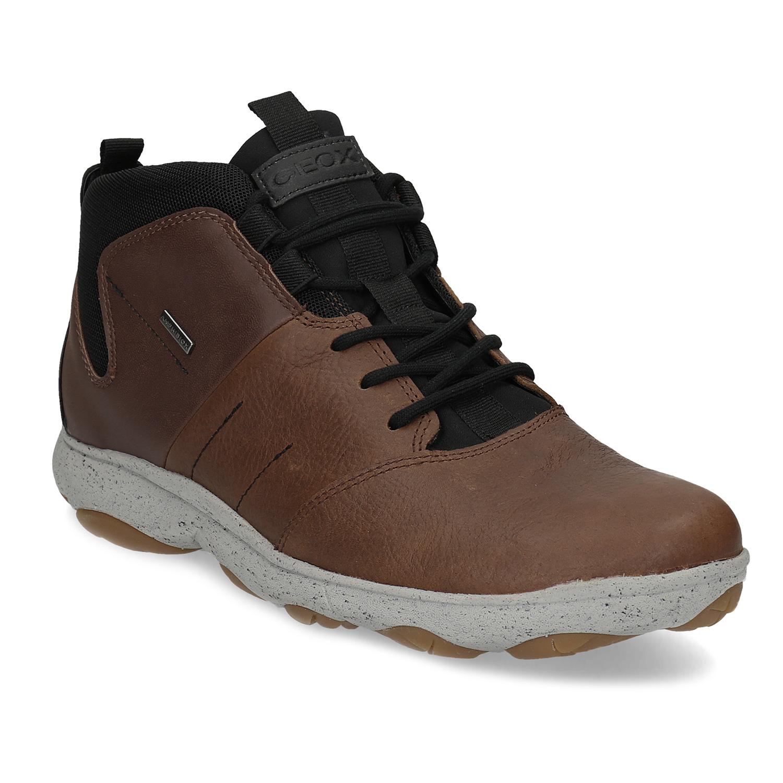 Kožená pánská kotníčková obuv voděodolná e6c8fd393c