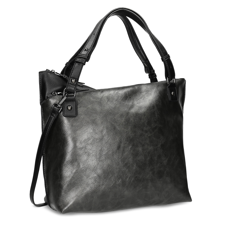 Čierna kabelka s metalickými odleskami
