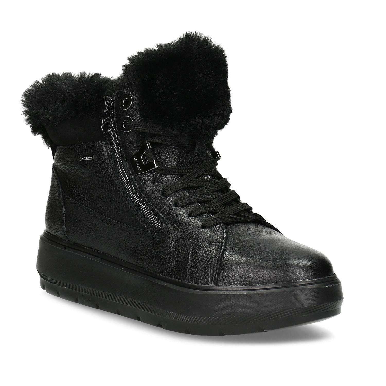 187f78241ad Zimni boty damske na klinku s koziskem levně