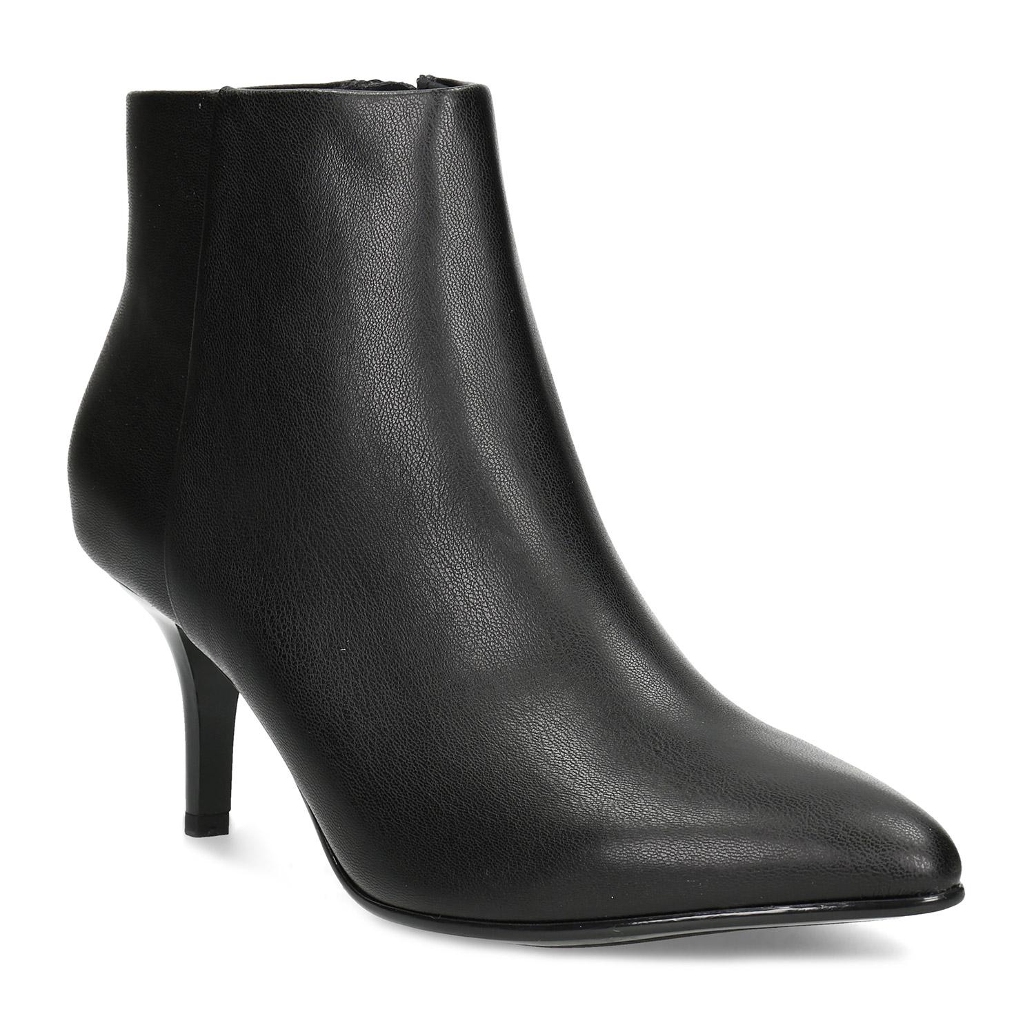 Dámská kotníčková obuv na podpatku