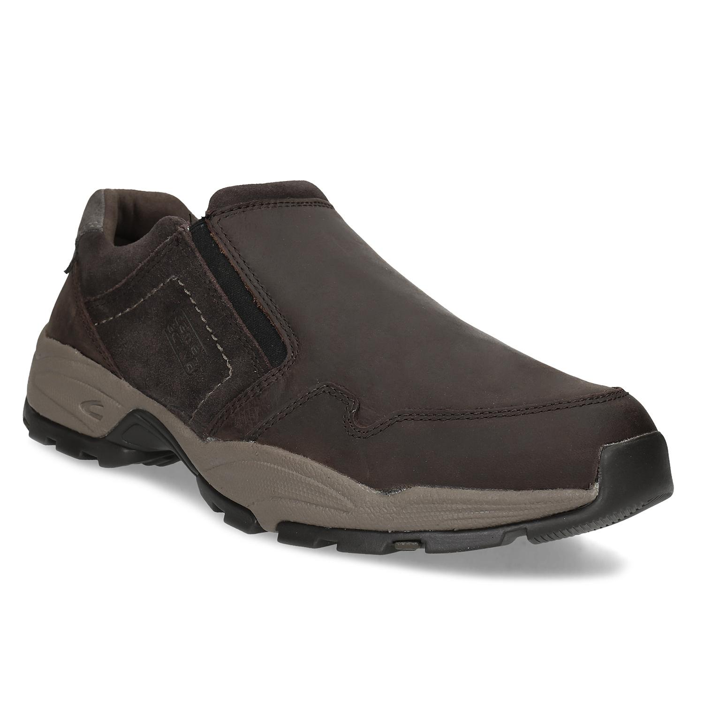 Pánska hnedá kožená obuv s pružením