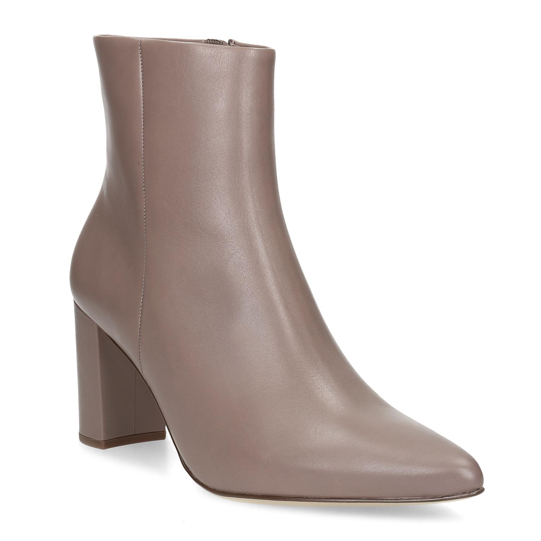 Kožená dámská obuv do špičky na podpatku