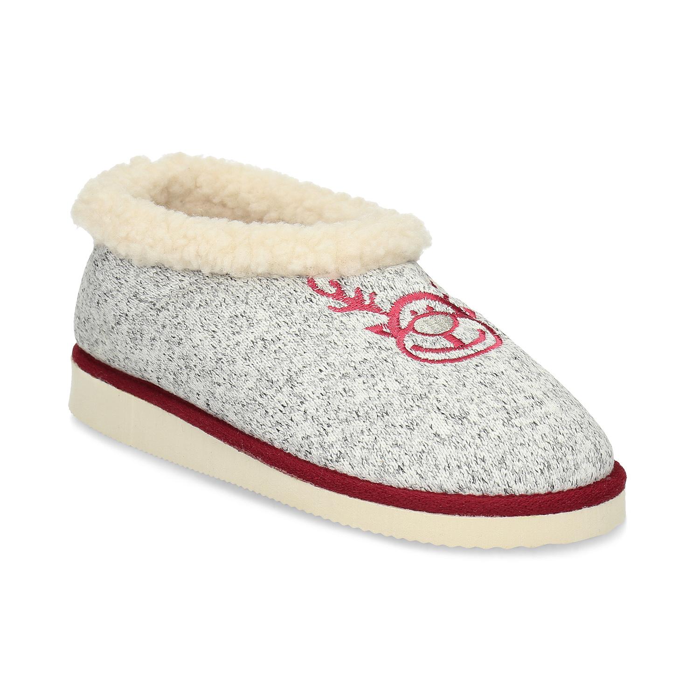 Dámská domácí obuv se zateplením