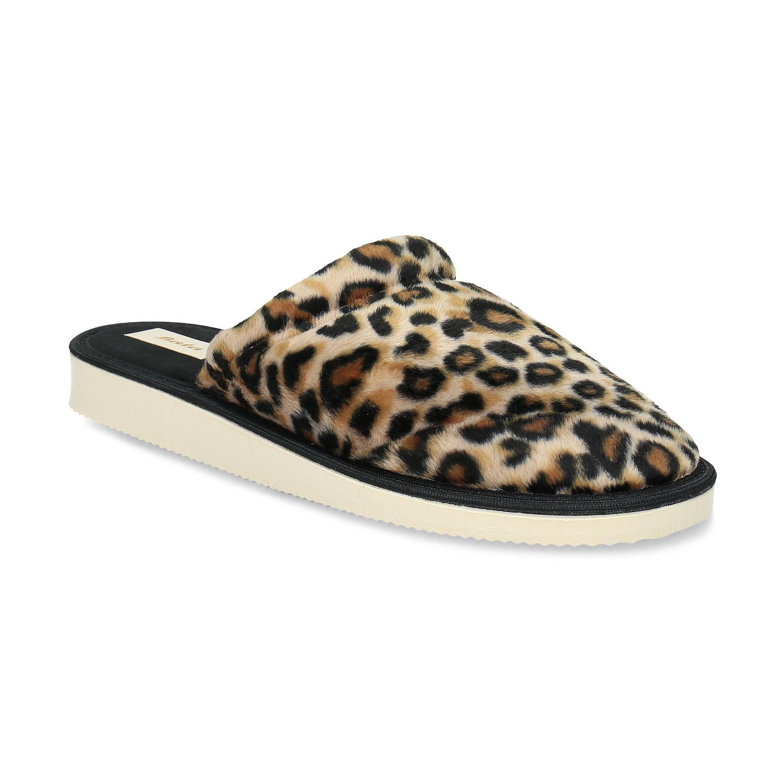 Dámské domácí nazouváky s leopardím vzorem