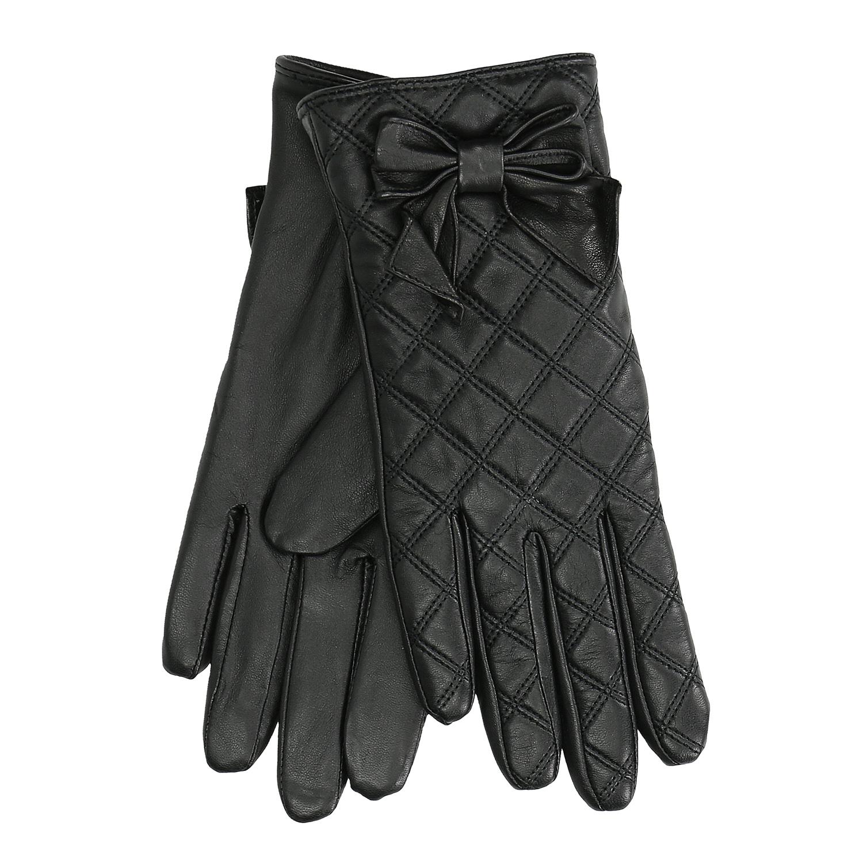 Dámské kožené rukavice prošívané