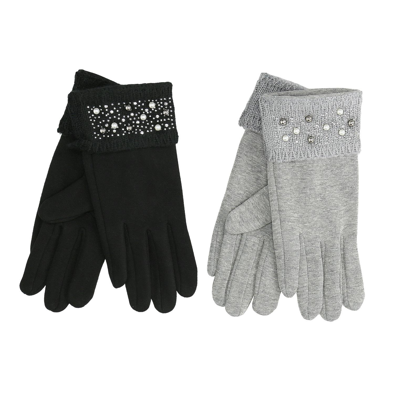 7a978c2c82b Dámské rukavice s perličkovým lemem - Akční cena