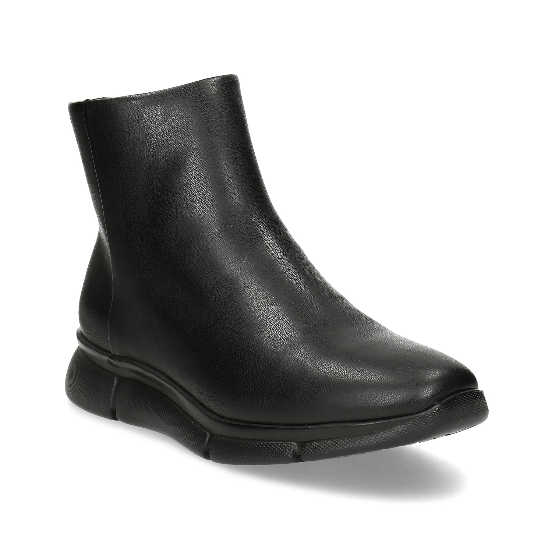 Dámská černá kotníčková obuv hladká