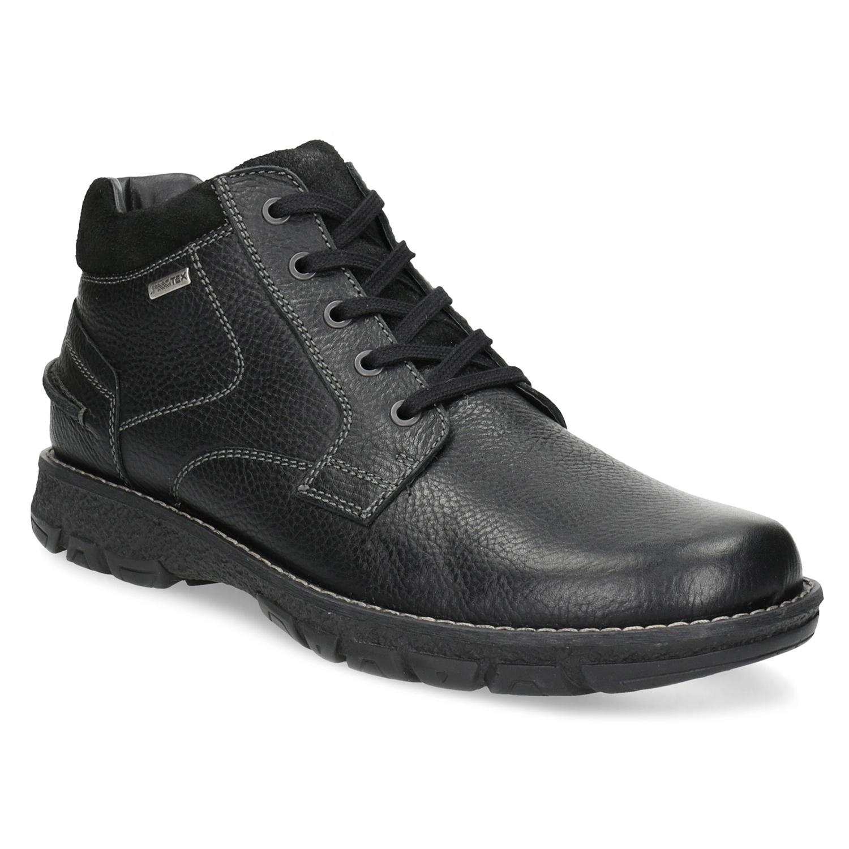 Pánske kožené zimné topánky